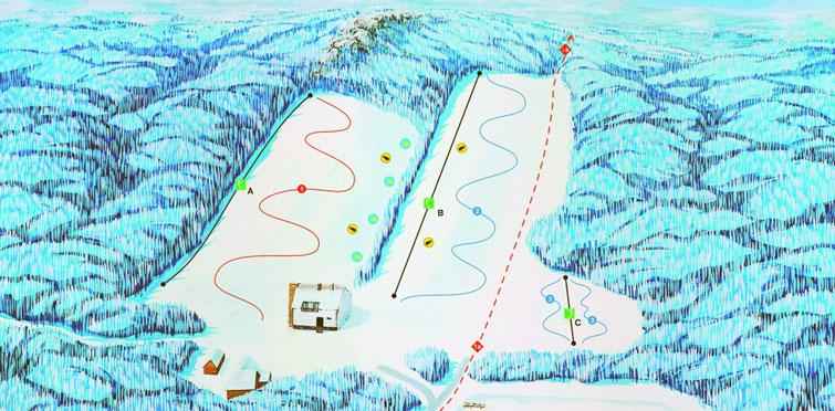 Mapa strediska Zochova chata