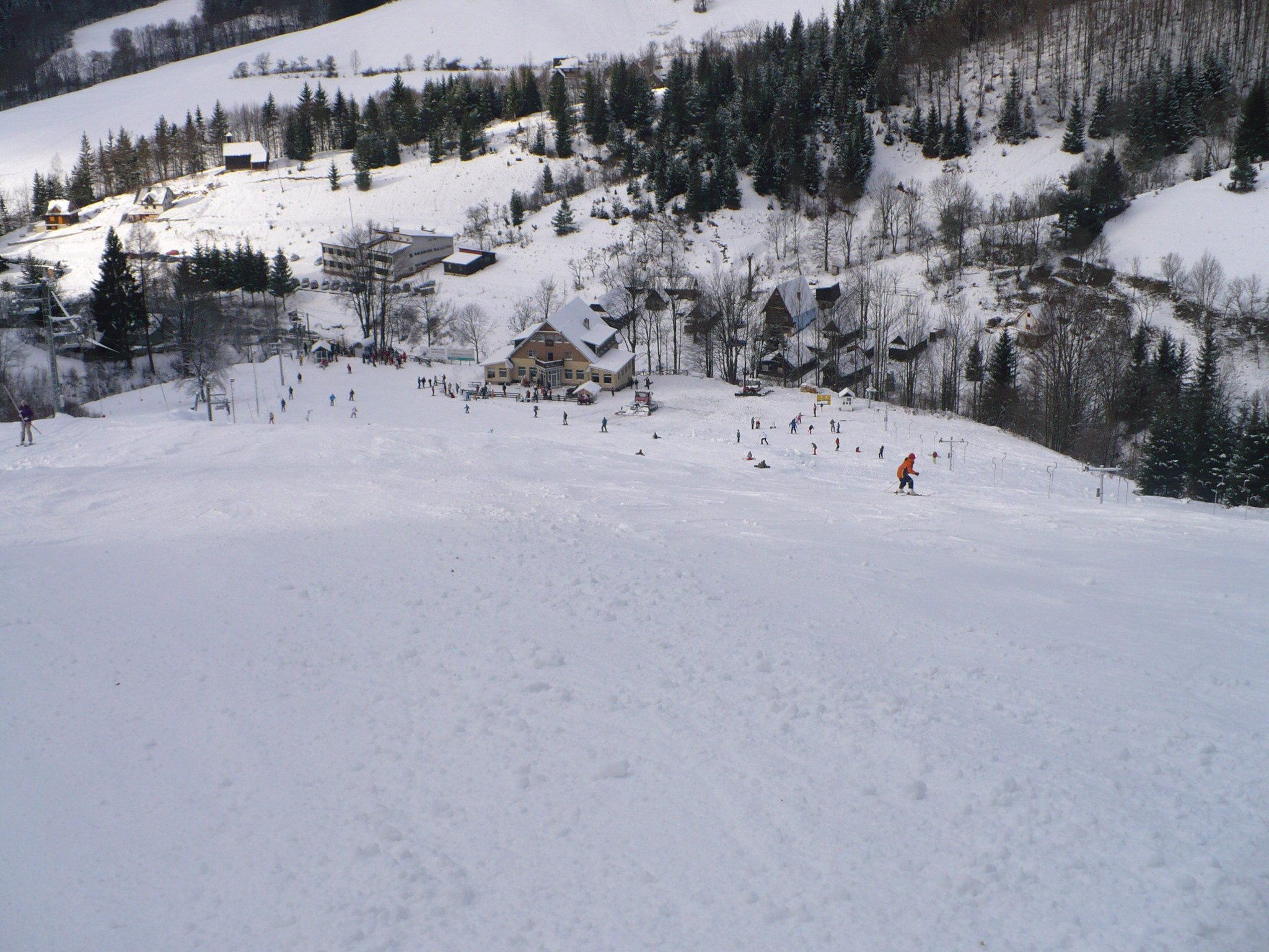 Mapa svahov v stredisku Ski Ráztoka