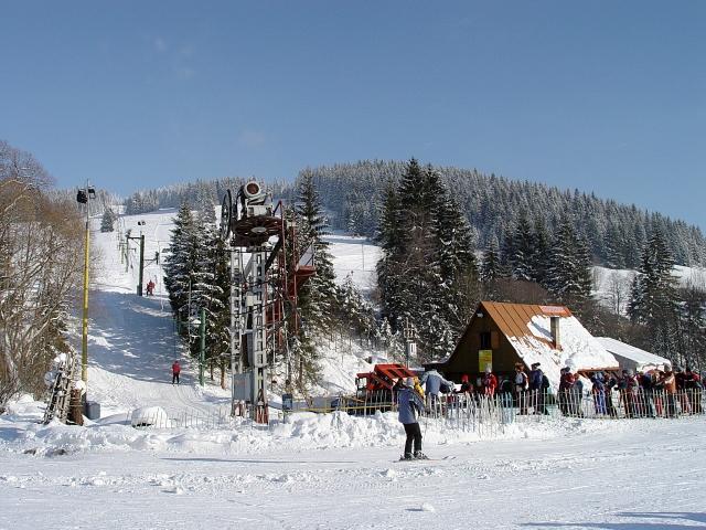 Mapa svahov v stredisku Ski Seven - Zákamenné