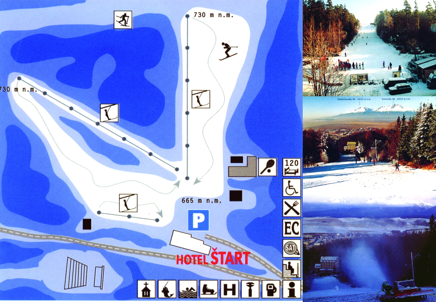 Mapa svahov v stredisku Ski Štart Kežmarok