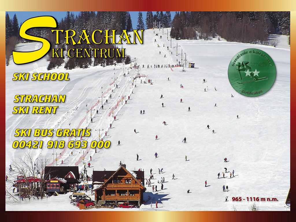 Mapa svahov v stredisku Strachan Skicentrum Ždiar