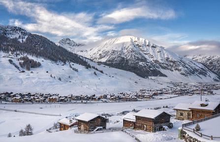 Lyžiarske stredisko Livigno v talianskych Alpách. Foto: Shutterstock