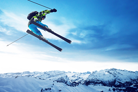 Lyžiar vo Švajčiarsku. Foto: Shutterstock