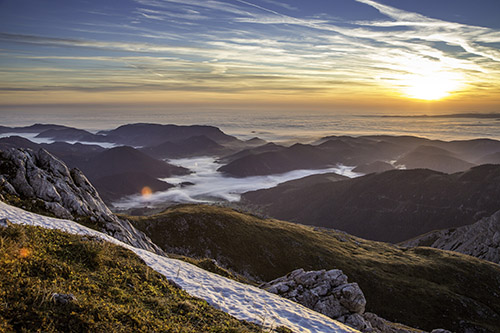 Výhľad zo Schneebergu, Viedenské Alpy. Foto:(c)Franz Zwickl