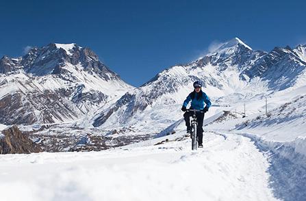 Bicyklovanie v zime. Foto: Shutterstock