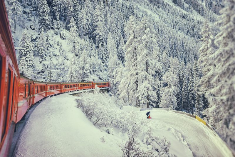 Do švajčiarskych hôr vás vyvezú železnice najmalebnejšímitrasami. Foto: Shutterstock