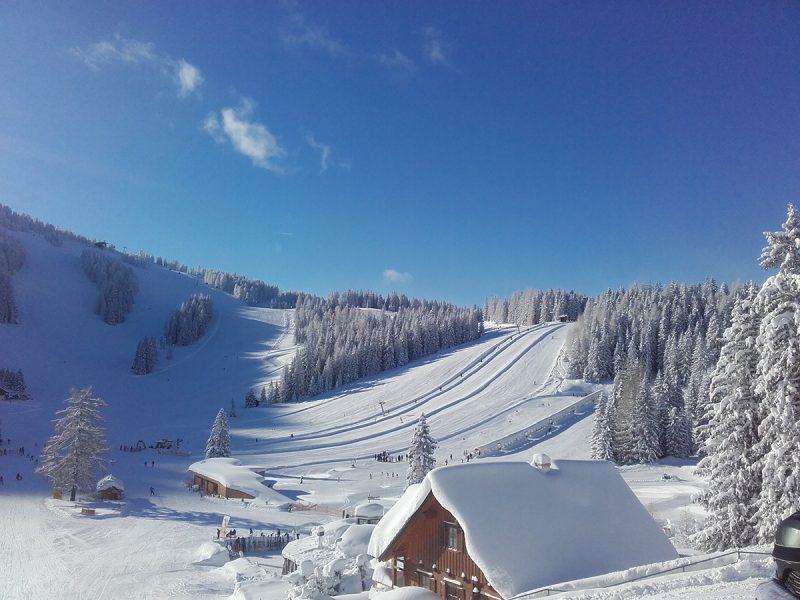 V Hornom Rakúsku poriadne nasnežilo. Stredisko Hinterstoder - január 2019. Foto:(c) Hinterstoder-Wurzeralm Bergbahnen AG