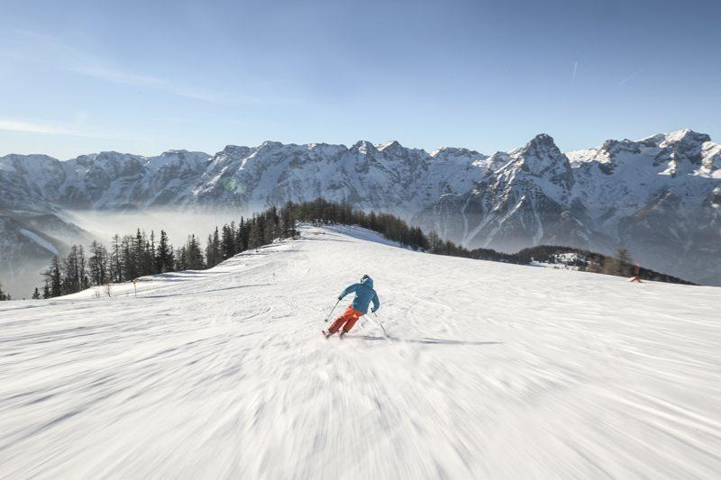Hinterstoder, Schnee Berge. Foto: Oberoesterreich Tourismus, David Lugmayr