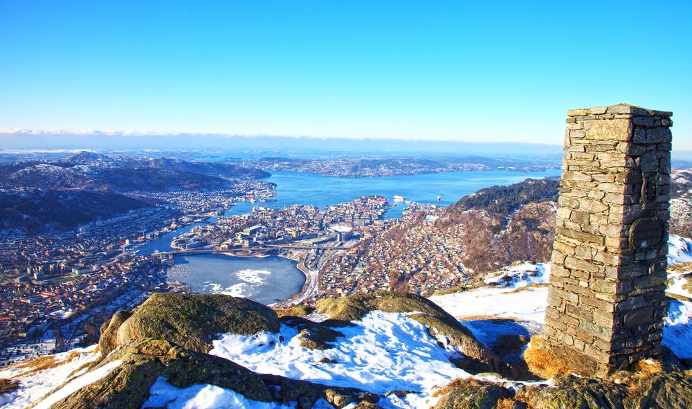 Jeden z mála slnečných dní v Bergene. Foto: Shutterstock