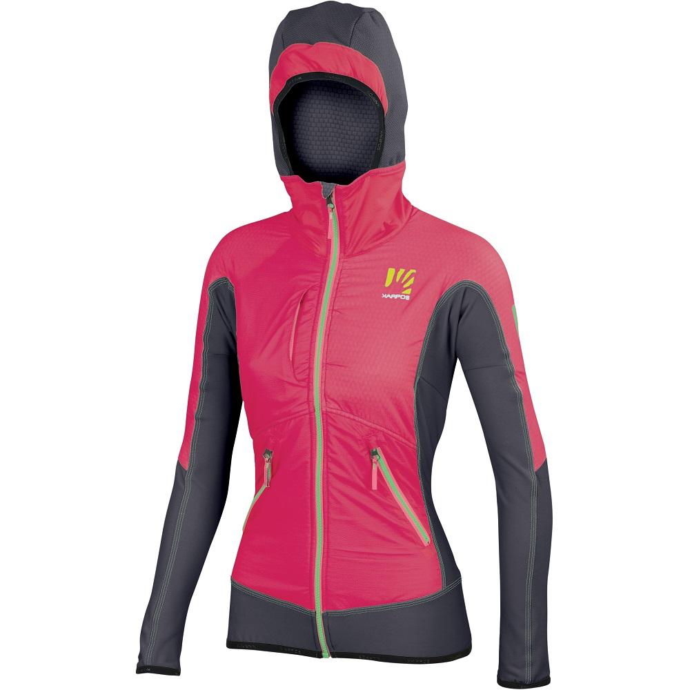 DRUHÁ VRSTVA: Pohodlné, hrejivé a vetruodolné dámske oblečenie Karpos Alagna Plus. 219,90 €/ bunda