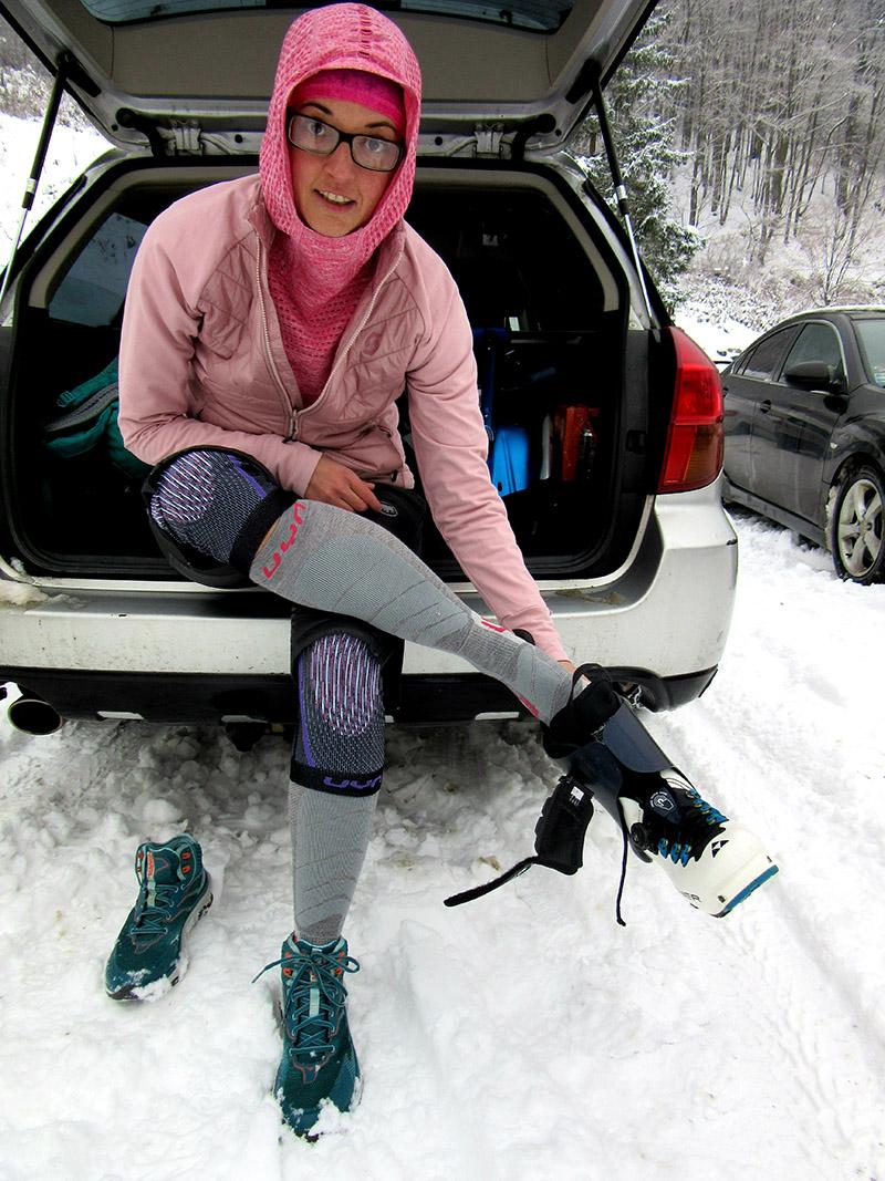Ponožky UYN Ski touring sadli perfektne a svojou minimálnou hrúbkou sú ideálne pre aktívny pohyb.